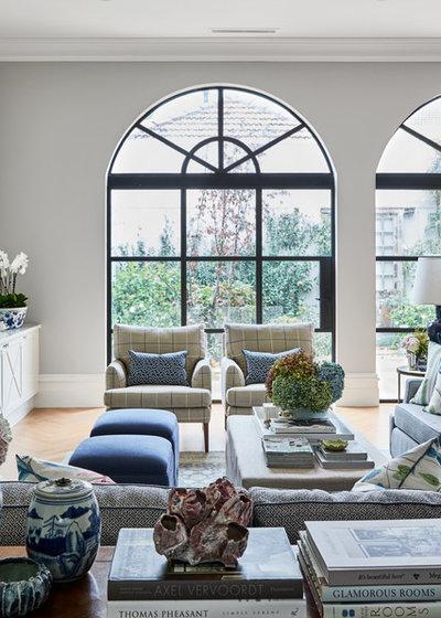 Traditional Living Room by Melissa Balzan Design