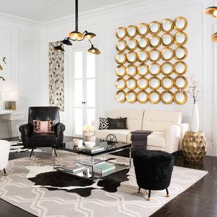 Living room - contemporary living room idea in New York