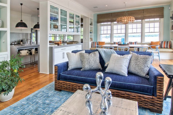 Beach Style Living Room by Willey Design LLC
