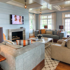 eclectic living room by Willey Design LLC