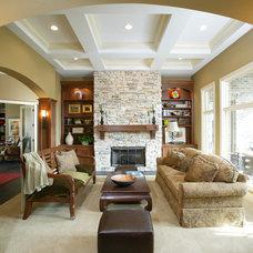 Mediterranean Living Room by Castalia Homes, LLC