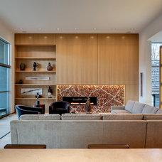Contemporary Living Room by Bernbaum-Magadini Architects
