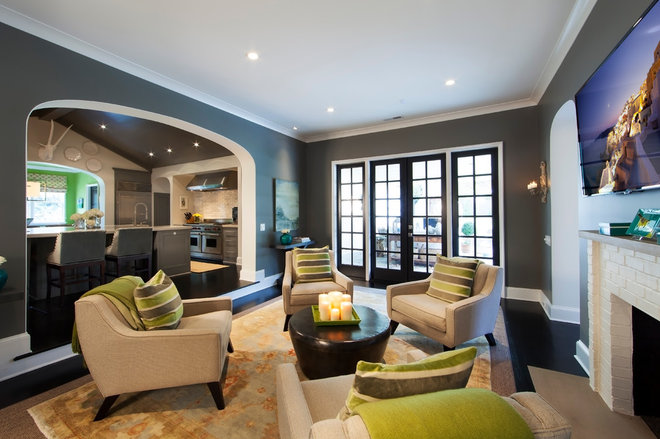 Contemporary Family Room by Jim Schmid Photography