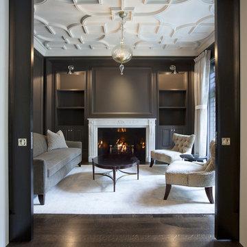 Salon with Custom Plaster Ceiling