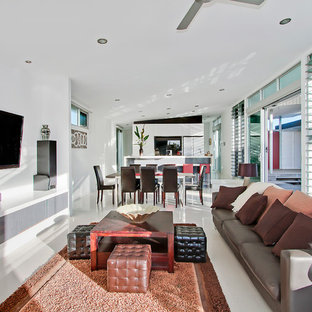 Design ideas for a contemporary living room in Gold Coast - Tweed.