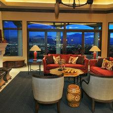 Mediterranean Living Room by CD Construction, Inc.