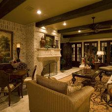 Traditional Living Room by Sam Allen Custom Home Design