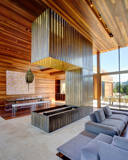 modern living room by Bates Masi Architects LLC