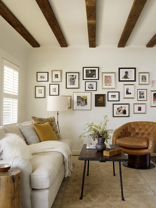 Inspiration For A Rustic Living Room Remodel In San Francisco With White  Walls. Save Photo. Jute Interior Design