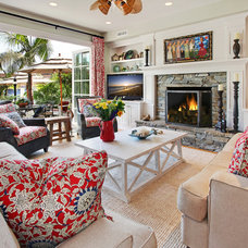 Beach Style Living Room by Darci Goodman Design