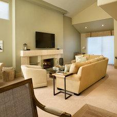 Contemporary Living Room by Design InSite