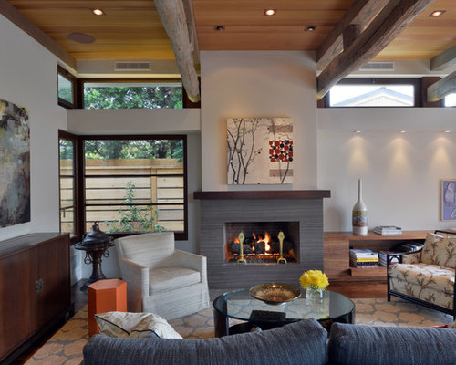 Inspiration for a contemporary open concept dark wood floor living room  library remodel in San Diego. 50 Best Living Room Library Ideas   Photos   Houzz