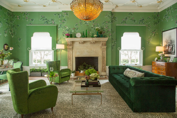 Traditional Living Room by Margot Hartford Photography