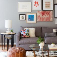 Contemporary Living Room by Neila Hutt Interior Design