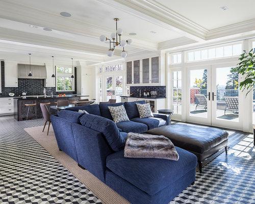 klassische wohnzimmer mit porzellan bodenfliesen design. Black Bedroom Furniture Sets. Home Design Ideas