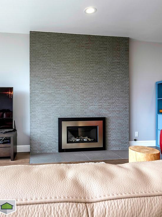 modern fireplace mantel | houzz