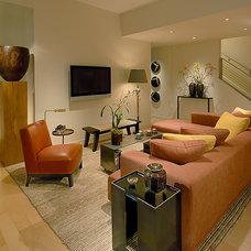 Eclectic Living Room by Michael Merrill Design Studio, Inc