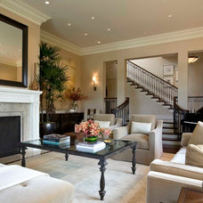 Transitional Living Room by C Wright Design