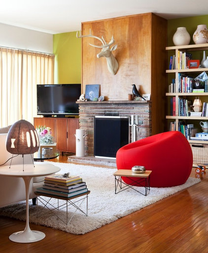 Eclectic Living Room by Janel Holiday Interior Design