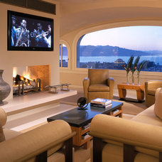 Contemporary Living Room by The Wiseman Group Interior Design, Inc