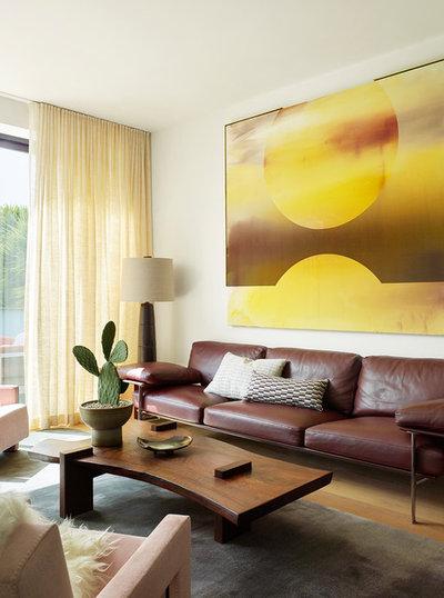 Contemporary Living Room by Jamie Bush & Co.