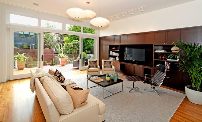 Contemporary Living Room by Dijeau Poage Construction