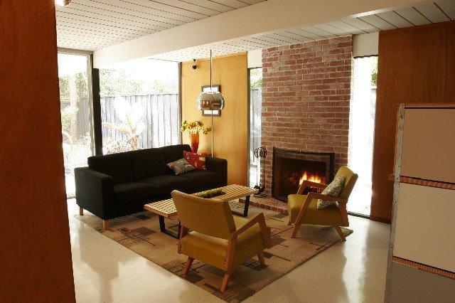 Modern Living Room San Jose Eichler