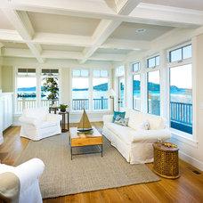 Beach Style Living Room by Gilbane Development Company
