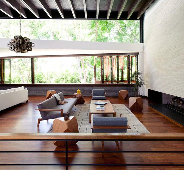 コンテンポラリー リビング by Mike Jacobs Architecture
