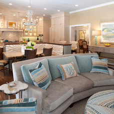 Transitional Living Room by Ellen S. Dyal Interiors, Inc.