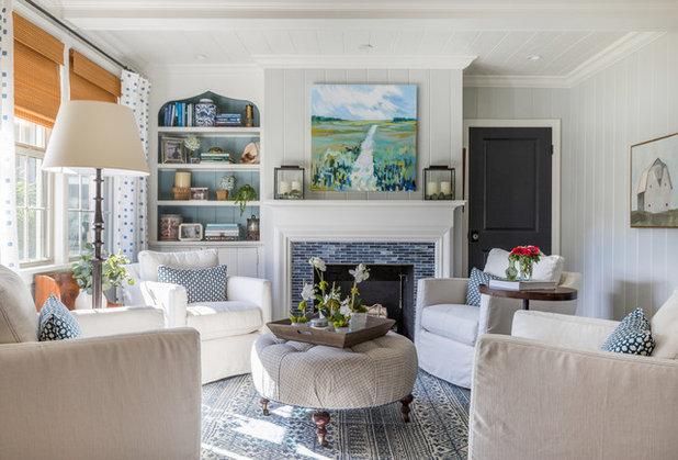 Farmhouse Living Room by Gordon and  Johnson Design