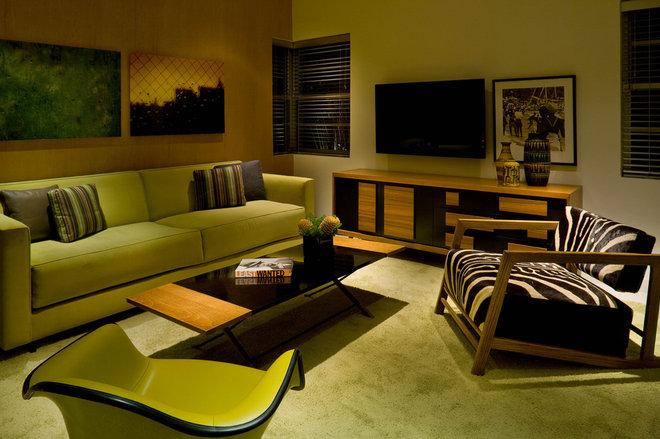 Modern Living Room by Robert Kaner Interior Design