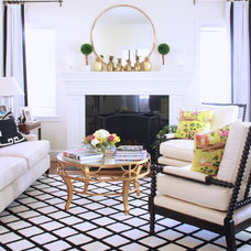 Eclectic Living Room by Maggie Stephens Interiors