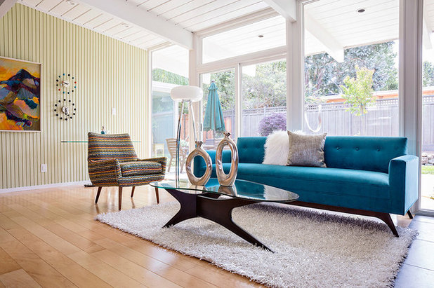 Midcentury Living Room San Mateo Highlands Eichler Home Tour 2014