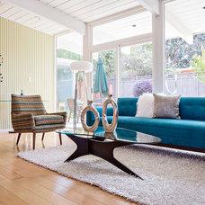 Midcentury Living Room San Mateo Highlands Eichler Home Tour 2014