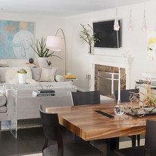 Modern Living Room by Laura Martin Bovard