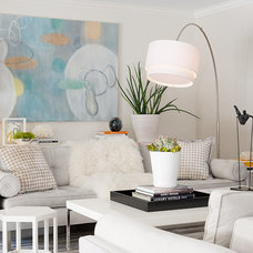 Transitional Living Room by Laura Martin Bovard