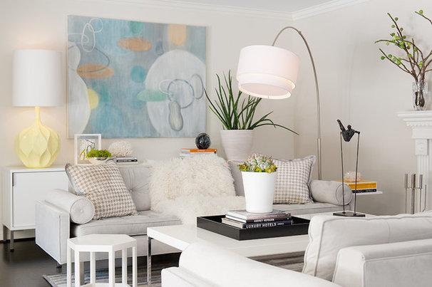 Transitional Living Room by Laura Martin Bovard
