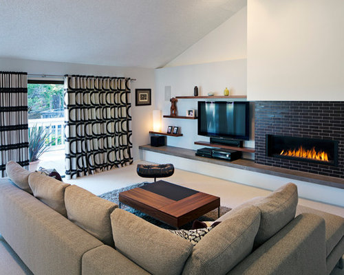 Tv Side Fireplace Ideas  Pictures  Remodel and Decor