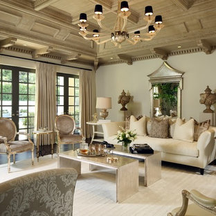 Inspiration For A Timeless Formal Dark Wood Floor And Brown Floor Living  Room Remodel In Los