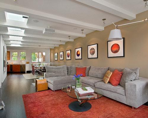 Orange Living Room Houzz