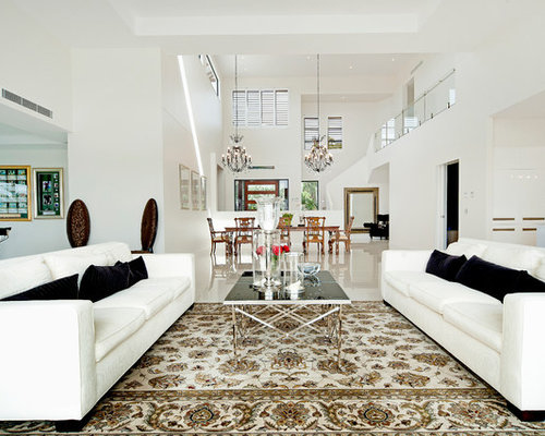 Contemporary Living Room Designs. This is an example of expansive contemporary formal open concept living  room in Brisbane with Contemporary Living Room Design Ideas Renovations Photos