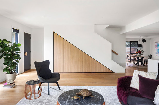 Contemporary Living Room by Minett Studio Architecture and Design