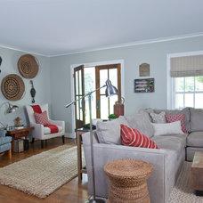 Farmhouse Living Room by Cristi Holcombe Interiors, LLC