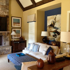 Traditional Living Room by Meriwether Design Group