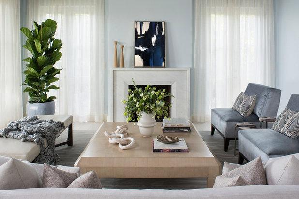 Beach Style Living Room by Smith Firestone Associates