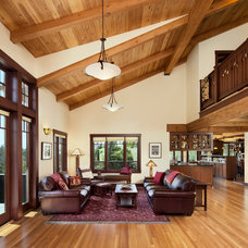 Craftsman Living Room by Giffin & Crane General Contractors, Inc.