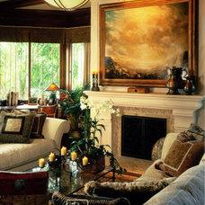 Craftsman Living Room by Maraya Interior Design