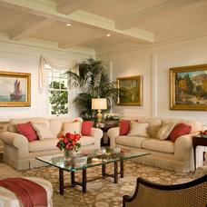 Beach Style Living Room by Kathryne Designs, Inc