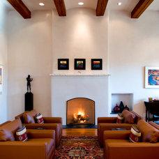 Mediterranean Living Room by K. M. Skelly, Inc
